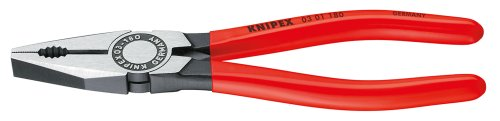 Knipex 03 01 180 Ean Combination Pliers Black Atramentized Plastic Coated 180 Mm ()