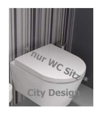 Wand WC CLIVIA Top Vigour weiss Tiefspüler WC Sitz Clivia Edelstahlscharnier