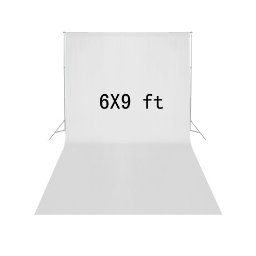 Square Perfect 5029 6 X 9 Feet Economy Backdrop Muslin for Photography, White by SQUARE PERFECT