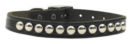 "Mirage Pet Products 82-11 16BK Stud Leather Dog Collar, 16"", Black"