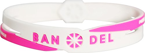 BANDEL (반델) 크로스 팔찌 (화이트 × 핑크) M 사이즈 : 17.5cm 2017 년 모델