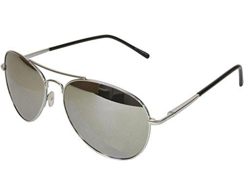 Aviator Sunglasses Chrome Frame - G&G Premium Mirror Aviator Sunglasses Spring Hinge Chrome Frame