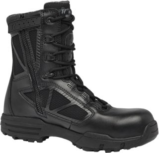 Tactical Research Belleville 998ZWPCT TR Chrome 8 in Composite Toe Side Zip WP Black Boot, 10 ()
