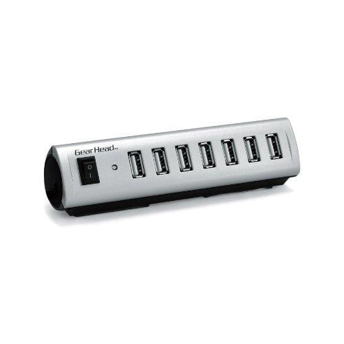Gear Head USB 2.0 7-Port Hub with Energy Saving Switch (AC Powered) (RoHS) (UH7500ESP)