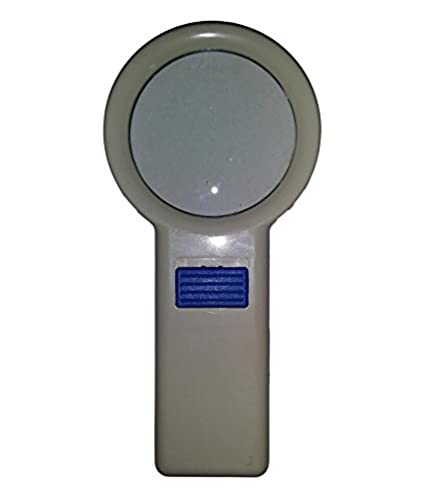 pagkis handheld led magnifier lens magnifying glass with built in