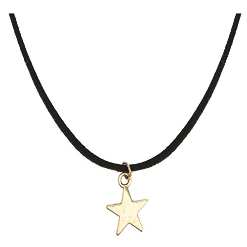 Accessorisingg Black Swade Cod with Star Charm Choker