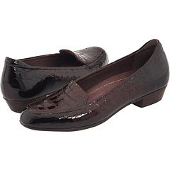CLARKS Women's Timeless,Dark Brown Patent Croco,US 8.5 M