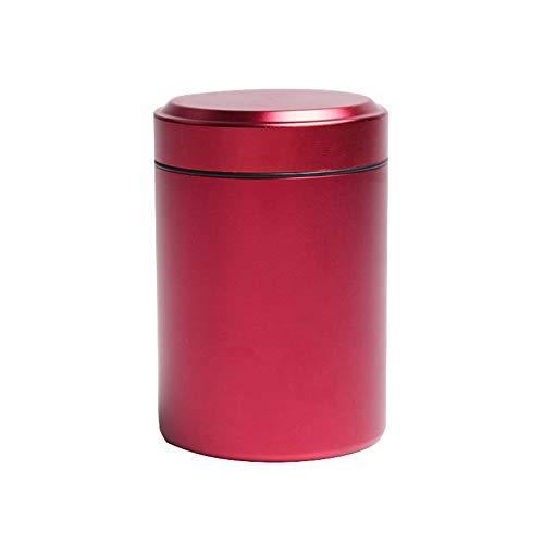 Airtight Stash Jar Smell Proof Durable Multi-Use Portable Metal Herb Jar Container. Waterproof Aluminum Screw-top Lid Lock Odor(Red)