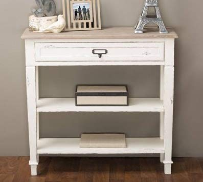 Amazon Com Console Tables For Entryway White Wood With Storage