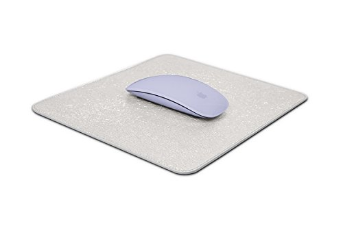 Lucrin - Soft Mouse Pad - Silver - Metallic Leather by Lucrin