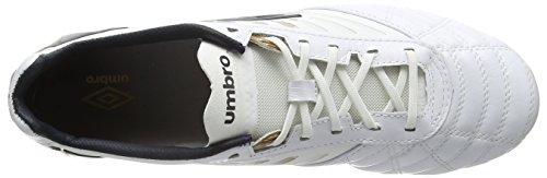 Umbro Medusæ Pro Hg - Zapatillas de fútbol hombre Blanco (White/Carbon/Gold)
