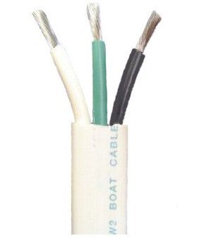 amazon.com: 12/3 awg triplex tinned marine wire, black ... black white green wire diagram