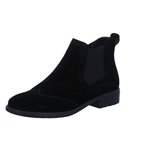 Black Women Women Leather Leather Tamaris Boot Boot Tamaris Black qBn8gU