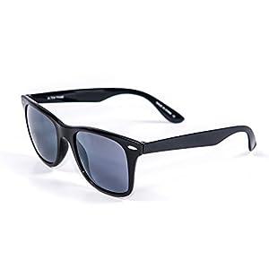 Jimarti UTM76BKS Ultem Frame Polarized Sunglasses Zero Weight Unbreakable (Black and Smoke)