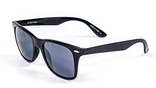 Jimarti UTM76BKS Ultem Frame Polarized Sunglasses Zero Weight Unbreakable (Black and - Space Age Sunglasses