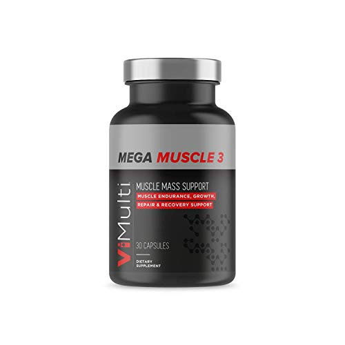 Vimulti Mega Muscle 3 - Build Bigger Calves and Leg Muscles with Vimulti DHEA Leg Builder Supplement. DHEA 50MG Proven to Build Muscle