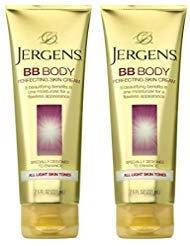 Jergens BB Body Cream for Lighter Skin Tones, 7.5 Ounce (Pack of 2)