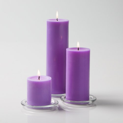Richland Lavender Pillar Candles Set of 3 (Lavender Pillar Candle)