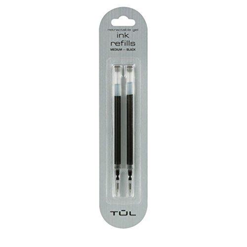 TUL Gel Fine Point Black Ink Pen Refill 2 Pack