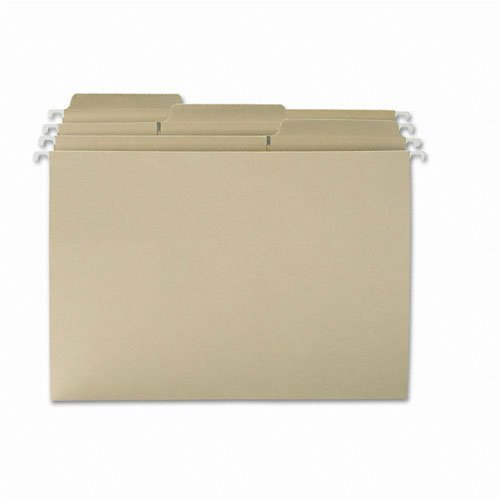 Smead : FasTab Hanging File Folders, 1/3 Tab, Letter, Moss Green, 20 per Box -:- Sold as 2 Packs of - 20 - / - Total of 40 Each by Smead
