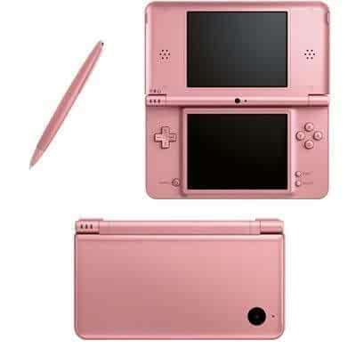 nintendo dsi xl metallic rose bundle with mario vs donkey kong mini land mayhem. Black Bedroom Furniture Sets. Home Design Ideas