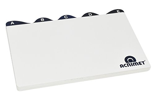 Acrimet Index Cards for 5 X 8 Card Holder (A to Z)