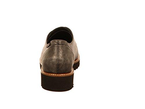 cuero para Zapatos Sabatina Gris de Mephisto de cordones mujer repujado w47Xxqvg