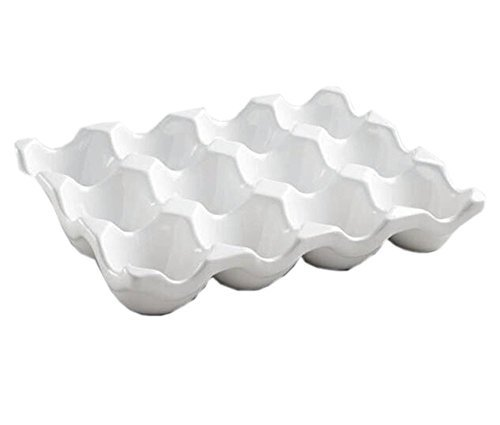 (Ceramic Egg Crate 12-cup, White)