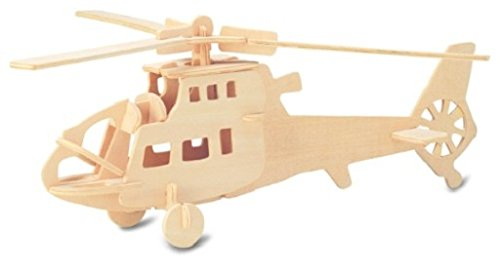 Fighter Helicopter: Woodcraft Construction Wooden 3D Model Kit