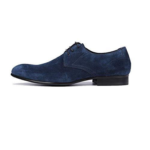 Cómodo Cuero Transpirable Usable Caucho Bajos Zapatos Apuntado Hombres Encaje Blue Xycszq De qx0wAtzRR