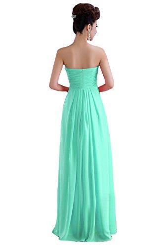 Minze Grün Chiffon langes Linie Kleid formales Kmformals Abschlussball n8a6YTqf