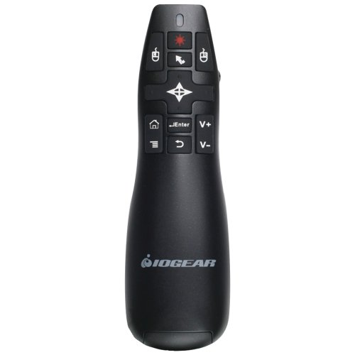 IOGEAR GME430R Red Point Pro 2.4GHz Gyroscopic Presentation Mouse with Laser Pointer Electronics Computer Networking