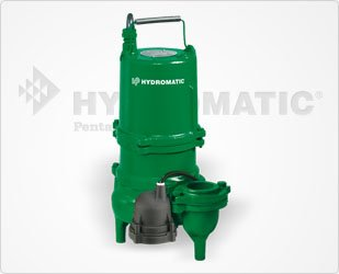 Hydromatic Submersible - Hydromatic SK60A1 Submersible Sewage Ejector Pump (Automatic), 10' Power Cord