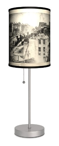 Lamp-In-A-Box SPS-TRV Travel - Paris Daguerre Photo Sport Silver Lamp, 20'' x 7'' x 7'' by Lamp-In-A-Box