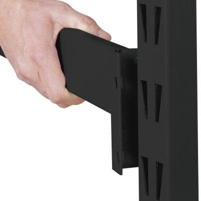 Husky 90 in. H x 90 in. W x 24 in. D 5-Shelf Welded Steel Wire Deck Shelving Unit in Black