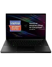 "Razer Blade 15 Base Gaming Laptop 2020: Intel Core i7-10750H 6-Core, NVIDIA GeForce RTX 2070 Max-Q, 15.6"" 4K OLED, 16GB RAM, 512GB SSD, CNC Aluminum, Chroma RGB, Thunderbolt 3, Creator Ready, Black"