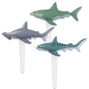 Shark Cupcake Picks - 24 ct by Bakery Supplies