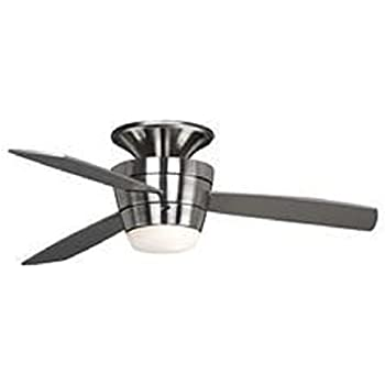 Harbor Breeze Mazon 44 In Brushed Nickel Flush Mount Indoor Ceiling Fan  With Light Kit And Remote (3 Blade)