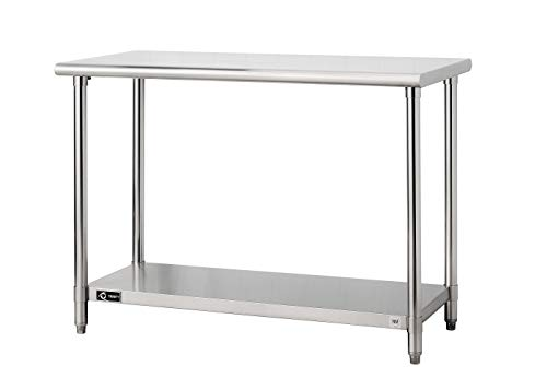 Trinity TLS-0201 EcoStorage NSF, 48-Inch Stainless Steel Utility Table, ()