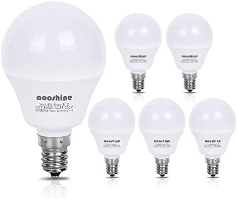 Equivalent Aooshine Candelabra Decorative Non Dimmable product image