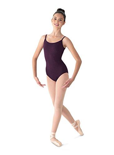 - Mirella Women's Classic Scoop Front V-Back Camisole Dance Leotard, BlackBerry, Medium/Long