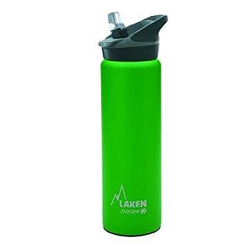 Laken Botella Térmica 750 ml Verde de Acero Inoxidable 18/8 y Doble Pared de Vacío Jannu (boca ancha)