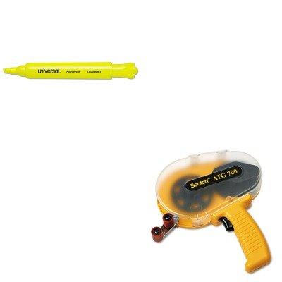 (KITMMMATG700UNV08861 - Value Kit - Scotch Adhesive Transfer Tape Applicator (MMMATG700) and Universal Desk Highlighter)