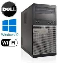 Gaming Dell Optiplex Tower Computer Desktop PC Renewed Intel Core i5 3.1GHz, 16GB Ram, 2TB HDD + 128GB SSD, WiFi, Bluetooth, DVD-RW, HDMI Nvidia Geforce GT 730 4GB Graphics