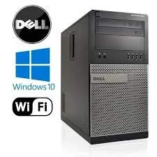 Dell Optiplex 990 Tower Computer Desktop PC (Intel Core i5-2400, 4GB Ram, 250GB HDD, WiFi, DVD-RW, Keyboard Mouse) Built Your Own Computer, Windows 10 (Renewed)