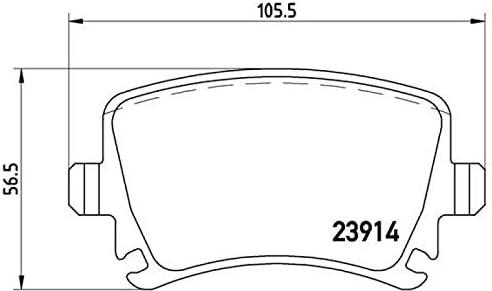 Brembo Bremsscheiben /Ø226mm Scheibenbremse Brembo Bremsbel/äge hinten Hinterachse