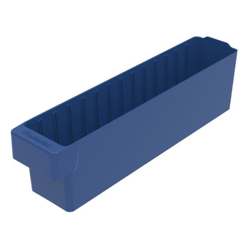 Akro-Mils 31148 17-5/8-Inch L by 3-3/4-Inch W by 4-5/8-Inch H, AkroDrawer Plastic Storage Drawer, Blue, Case of 6 by Akro-Mils