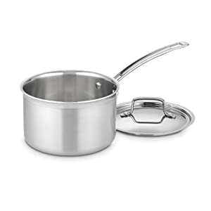 Cuisinart MCP193-18N MultiClad Pro Stainless Steel 3-Quart Saucepan with Cover