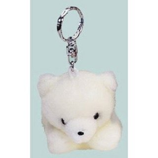 Fuzzy Town Stuffed Polar Bear Keychain 4