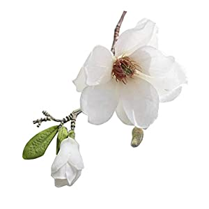 Zalin Artificial Magnolia Silk Fake Flower Branch Arrange Table Wedding Home Decor Party Accessory,A 46